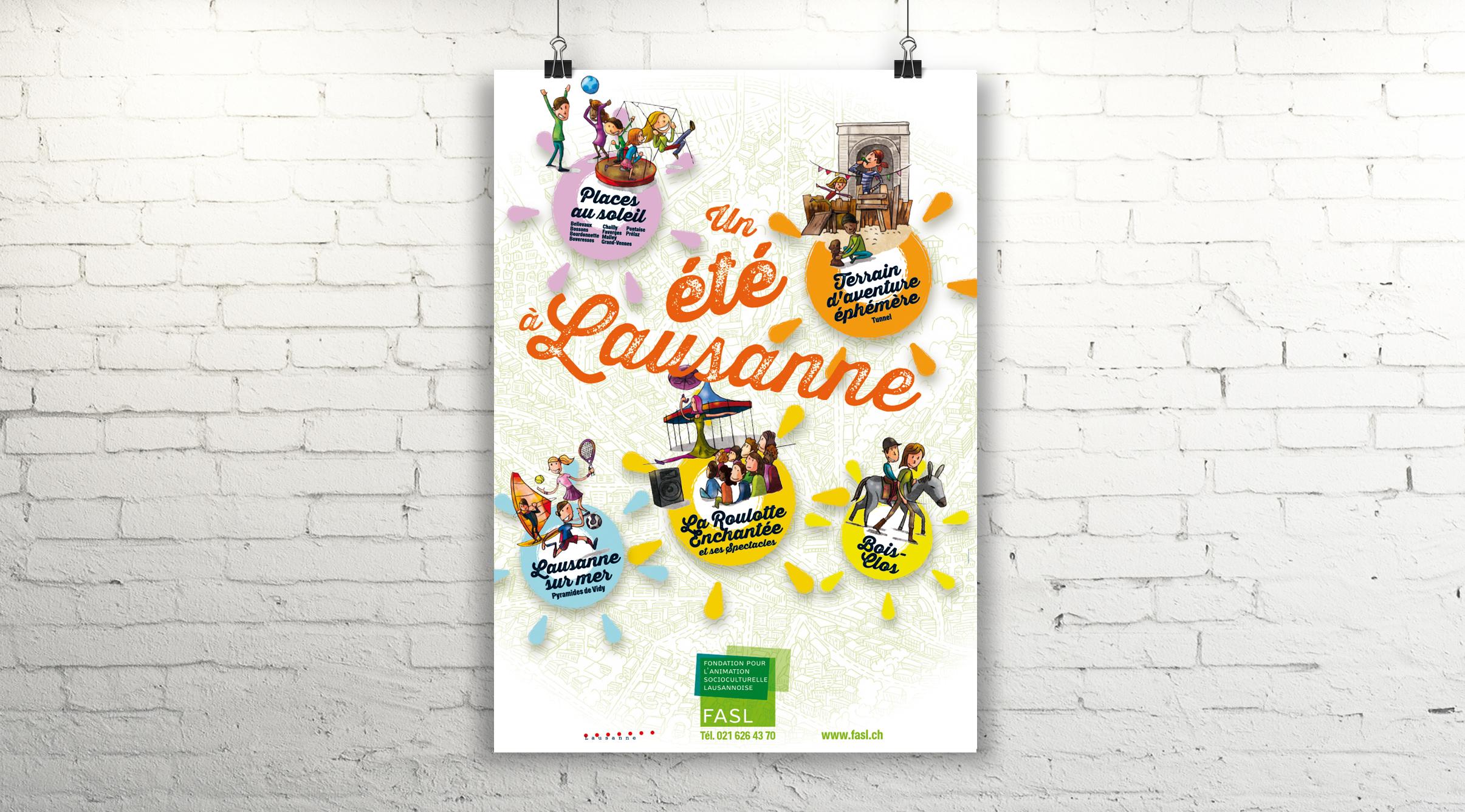 Affiche 2014, Un été à Lausanne