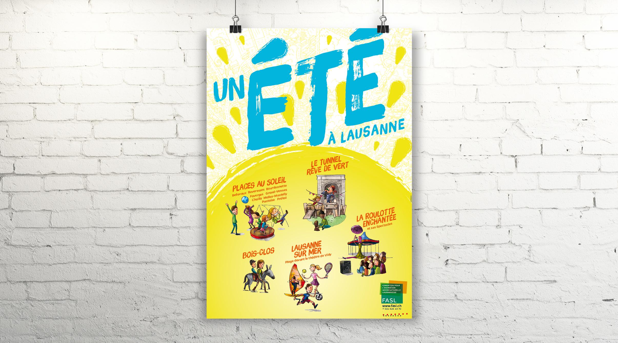 Affiche 2015, Un été à Lausanne