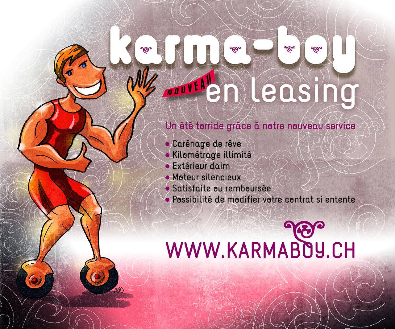 Fausse pub Karma Boy